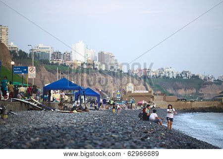 The Coast of Miraflores, Lima, Peru