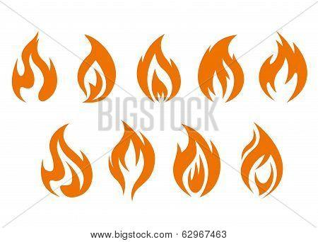 Fire Flames Symbols