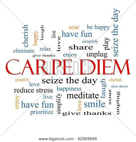 Carpe Diem Word Cloud Concept