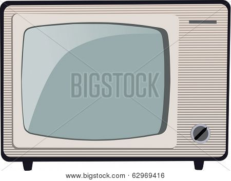 Old Russian black and white TV set