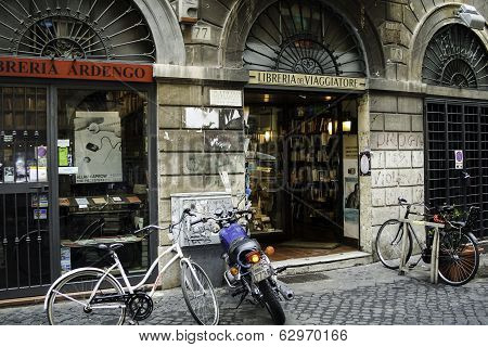 Exterior of Bookstore In Rome
