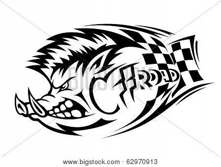 Offroad Boar Tattoo