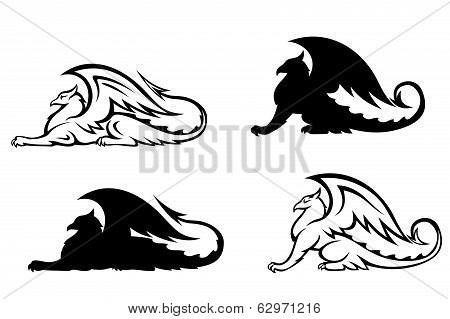 Heraldic Griffins