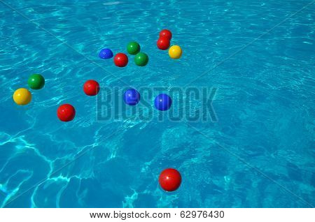 Colored Plastic Balls In A Swimming Pool