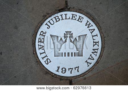 Silver Jubilee Walkway Sign