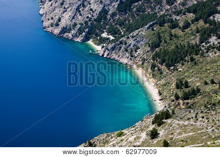 Vrulja Beach Near Brela Croatia