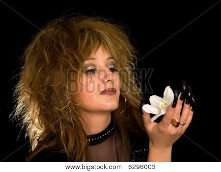 Witch With Flower