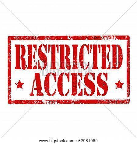 Restricted Access-stamp