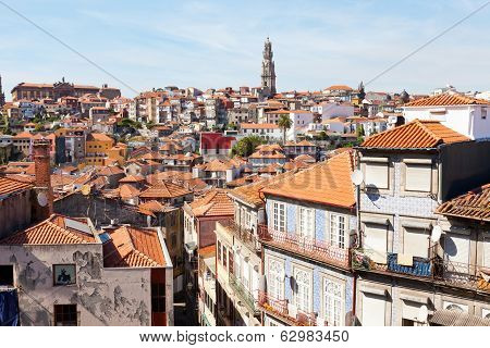 View of old city of Porto