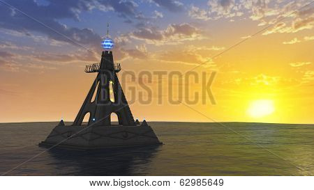 Temple On The Ocean