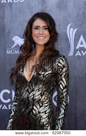 LAS VEGAS - APR 6:  Kelleigh Bannen at the 2014 Academy of Country Music Awards - Arrivals at MGM Grand Garden Arena on April 6, 2014 in Las Vegas, NV