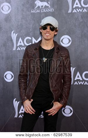 LAS VEGAS - APR 6:  Chris Janson at the 2014 Academy of Country Music Awards - Arrivals at MGM Grand Garden Arena on April 6, 2014 in Las Vegas, NV