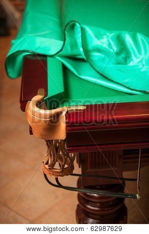 Billiard Table Under Cloth Cover