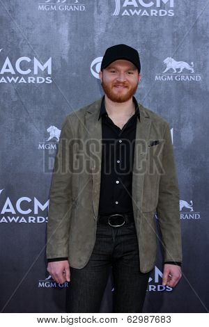 LAS VEGAS - APR 6:  Eric Paslay at the 2014 Academy of Country Music Awards - Arrivals at MGM Grand Garden Arena on April 6, 2014 in Las Vegas, NV
