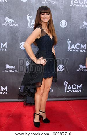 LAS VEGAS - APR 6:  Rachel Reinert at the 2014 Academy of Country Music Awards - Arrivals at MGM Grand Garden Arena on April 6, 2014 in Las Vegas, NV