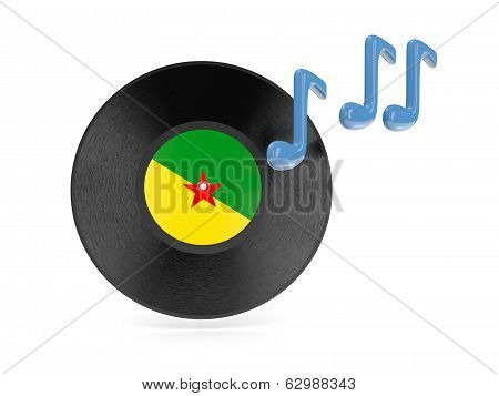 Vinyl Disk With Flag Of French Guiana
