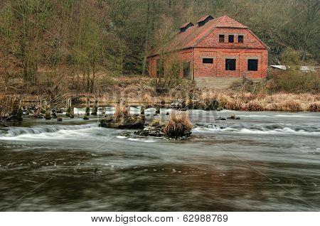 An Old House Near By River