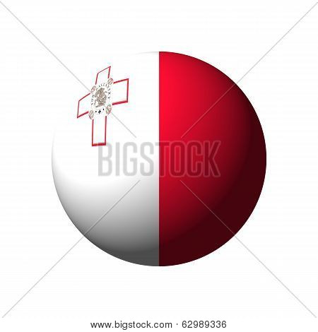 Sphere with Flag of Malta