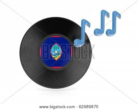 Vinyl Disk With Flag Of Guam