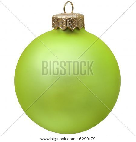 Green Christmas Ornament .
