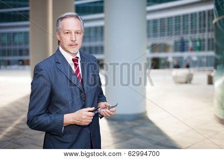 Portrait of an handsome senior entrepreneur