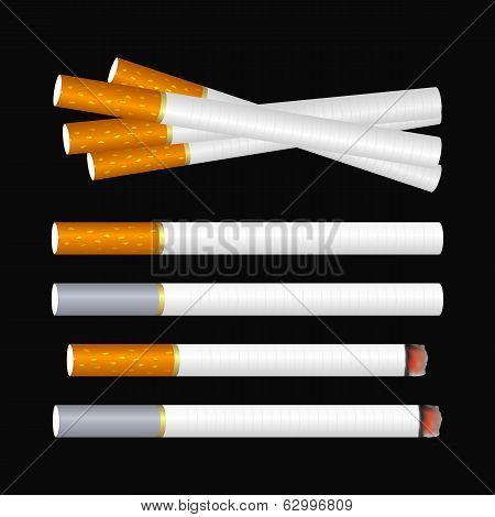 Cigarette On Black