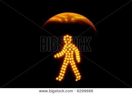 Pedestrian Traffic Light Yellow