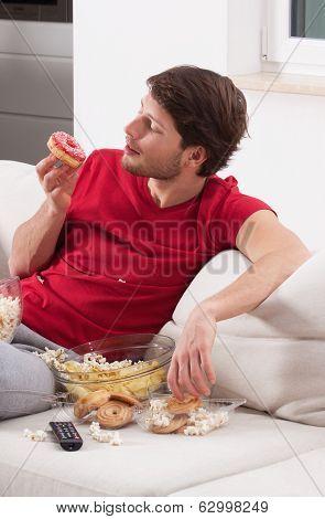 Male Couch Potato