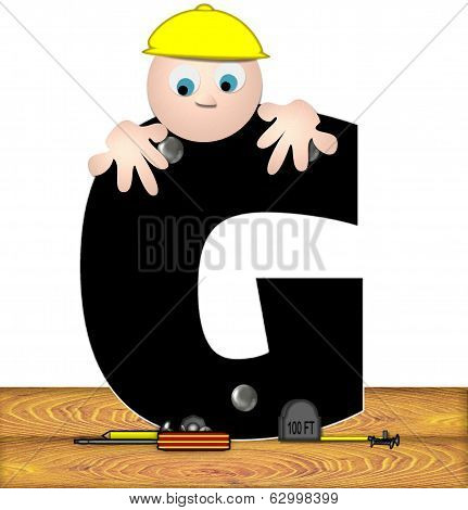 Alphabet Construction Worker G