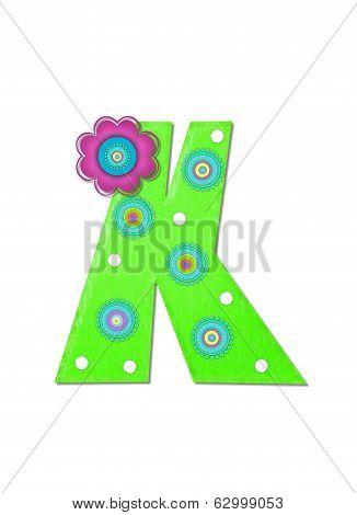 Alphabet Hippy Power Letter K