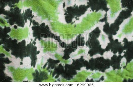 Tie-die Green Fabric
