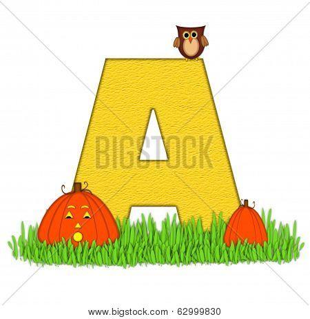 Alphabet Pumpkin Patch A