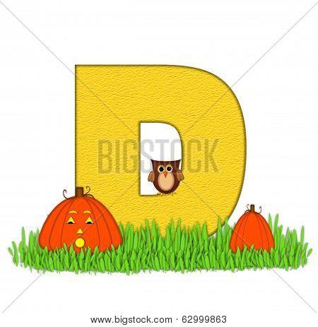 Alphabet Pumpkin Patch D
