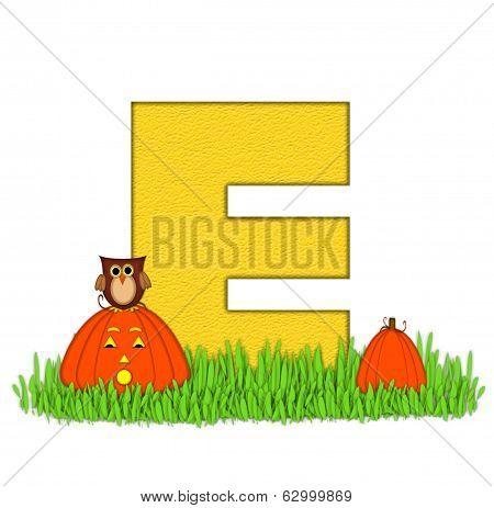 Alphabet Pumpkin Patch E