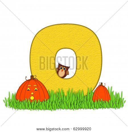 Alphabet Pumpkin Patch O
