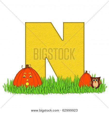 Alphabet Pumpkin Patch N