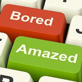foto of boredom  - Bored Amazed Keys Showing Boredom Or Amaze Reaction - JPG