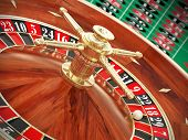 pic of poker machine  - Very high resolution rendering of a roulette - JPG