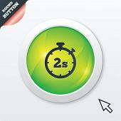 Timer 2s sign icon. Stopwatch symbol.