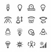 picture of uv-light  - Simple set of lamp features related vector icons for your design - JPG