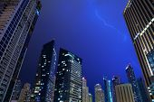 DUBAI, UAE - MARCH 29: Dubai Marina at night, on March 29, 2014, Dubai, UAE. In the city of artifici