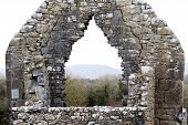 stock photo of galway  - A quiet day at Kilmacduagh Monastery - JPG