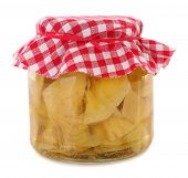 Jar of preserved artichoke