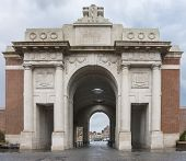 Looking Outwards Through The Menin Gate In Ypres, Belgium