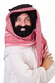 picture of hirsutes  - Funny arab man isolated on white - JPG