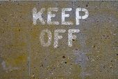 Keep Off Concrete