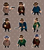 stock photo of gangsta  - Mafia Stickers - JPG
