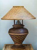 Wicker Bamboo Lamp
