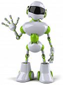 stock photo of robotics  - Green robot - JPG