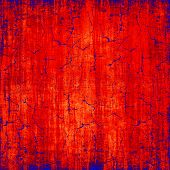 Grungy Red And Blue Scratched Texture As Abstract Background.